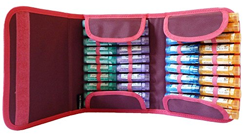 Pochette rangement homeopathie 40 tubes